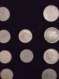 6 moedas 100 Réis Tamandare e 4. 200 Réis Maua