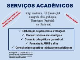 Título do anúncio: Correção, fomatação, elaboração e orientação de trabalhos acadêmicos em geral.