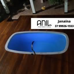 Título do anúncio: JA - Piscina ANIL - 4 x 2 x 1,20m - Piscina de fibra com 15 anos de garantia
