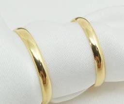 Par de aliança em ouro 18k - direto com o fabricante