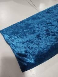 Título do anúncio: Tecido Veludo Molhado Com Elastano De 1,40m X 1,30m