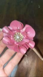 Arco tiara infantil com flor
