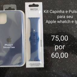 Kit Capinha Case iPhone + pulseira Apple whatch