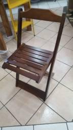 Cadeira Madeira Dobravel Nova