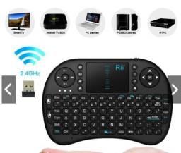 Mini Teclado Wifi 2.4 Ghz Keyboard Controle Com Touchpad Backlit Led