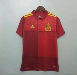 Camisa da Espanha Eurocopa 2021 / Camisa de Futebol Importada