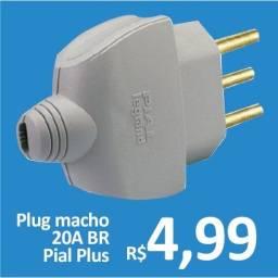 Plug Macho 20A BR - Pial Plus - Promoção R$ 4,99
