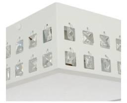 Plafon sobrepor quadrado alumínio branco fosco