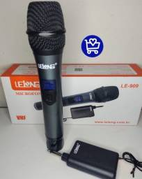 *Microfone Digital Lelong sem Fio LE-909*