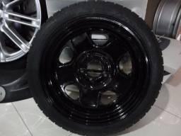 Roda estepe PARA BMW AUDI VW VOLVO aro 17 e 18 aço + pneu 125/80/1 e 145/80/18 18 novo