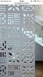 Artefatos de cimento Silveira/ cobogó/ elemento vazado/ divisória de parede