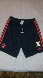 Short do Flamengo com patrocínio 2018