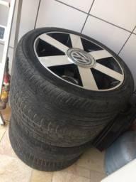 Troco rodas 17 por rodas 15 VW