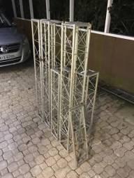 Treliças ferro backdrop 3x2m
