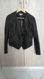 Casaco jeans resinado