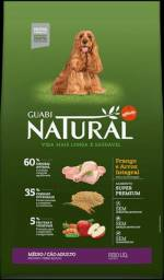 Ração Natural Guabi Adulto Medio 20kg - Alimento Super Premium