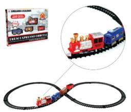 Mini Trem Elétrico Orbital À Pilha Brinquedo Infantil Novo