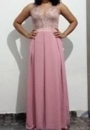 Vestido Rosé Tamanho: M / 120,00