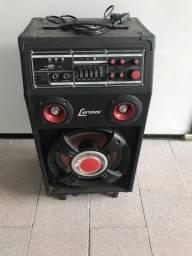 Microfone + caixa de som