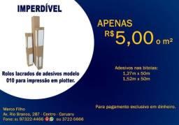 Rolos lacrados de adesivos modelo 010 para impressão em plotter