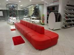 Sofa ilha para lojas de calçados