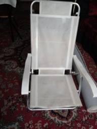 Cadeira de inox p/praia