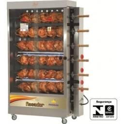 Maquina de frango 6 espeto 30 frangos - progas pronto entrega