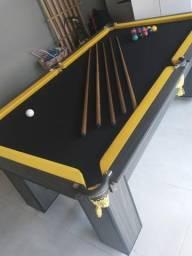 Mesa de Sinuca Redes Tecido Preto Modelo RFG8956