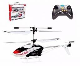 Mini Helicóptero + Giroscópio + Controle Remoto