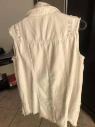 Colete jeans branco