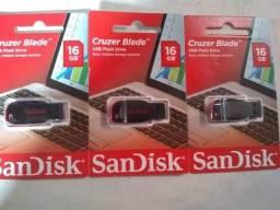 3 Pen Drive 16gb Sandisk Cruzer Blade Usb