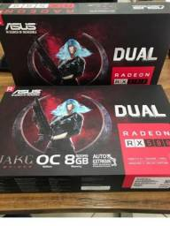Placa De Video Asus Radeon Rx 580 Oc Edition 8gb Gddr5. troco