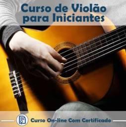 Curso de violão rápido online com certificado