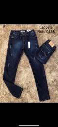 Calças jeans várias marcas e modelos, masculina e feminina.