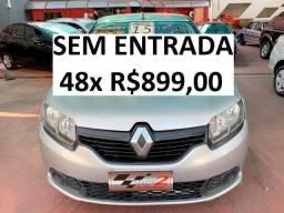 Renault Sandero 1.0 Completo - Sem Entrada 48x R$899,00 - 2015