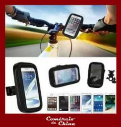 Suporte Impermeável de Celular e GPS para Bicicleta e Moto