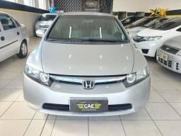 Honda civic 1.8 lxs 16v flex 4p automático 2008(94.273km)vende troca financia - 2008