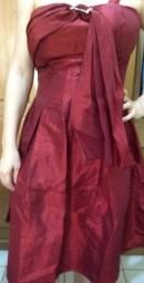 Vestido de festa Tafetá vermelho