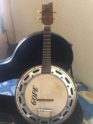 Banjo Del Vecchio anos 90 em ótimo estado com case