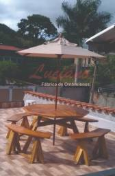 Título do anúncio: Guarda sol/ombrelone em madeira maciça, compre direto da fábrica