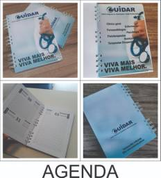 Agenda, caderno e bloco personalizado