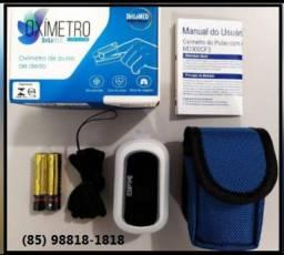 oximetro com alarme e selo Anvisa e Inmetro - garantia de 1 ano