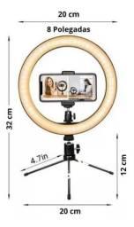 Ring Light 8 20cm Iluminação Profissional Led Selfie Tripé<br>