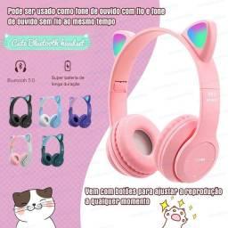 Título do anúncio: Fone de gatinho na cor rosa