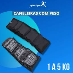 Título do anúncio: Caneleiras Com Peso - 1 a 5 kgs - Tornozeleiras de exercícios