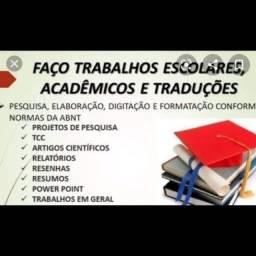 Título do anúncio: Trabalho acadêmico