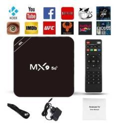 Tv Box MX9 c/ 8gb Ram e 64gb hd