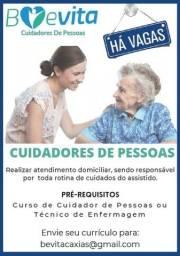 Título do anúncio: Vaga Para Cuidadores De Pessoas