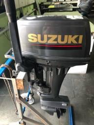 Título do anúncio: Motor de Popa 15 Hp Suzuki 2 tempos(semi nova)