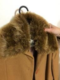 Casaco de lã - usado - capuz removível